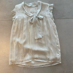 Silver Shimmer Madison Marcia Top XS